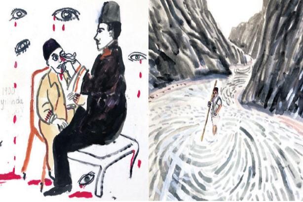 """Orhan Pamuk'un 'Veba Geceleri'nden Bir Bölüm; """"Hacı Gemisi İsyanı"""" (Pamuk'un Çizimleriyle)"""